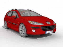 Peugeot 407 red 3d preview