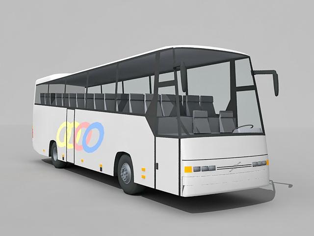 Passenger bus 3d rendering