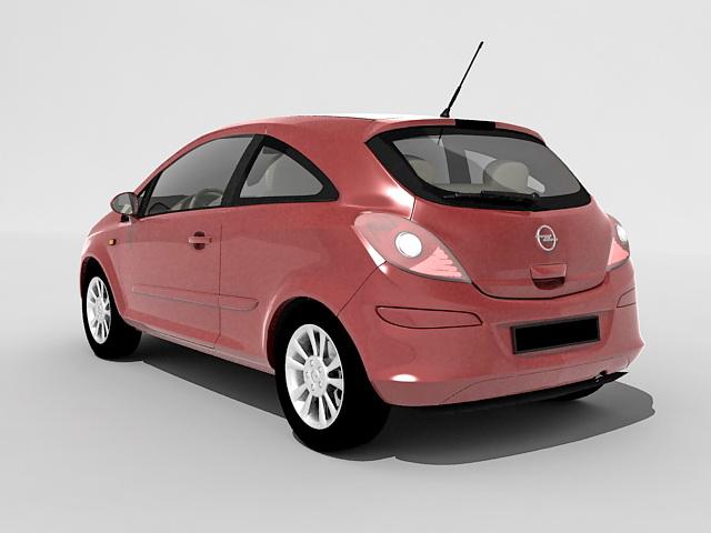 Opel Corsa mini car 3d rendering