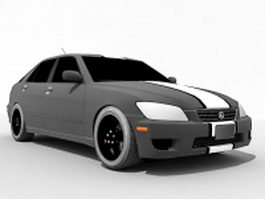 Lexus IS 300 race car 3d preview