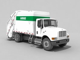 Automated garbage collection truck 3d preview