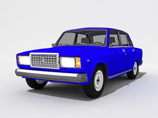 Lada Riva VAZ-2107 3d rendering