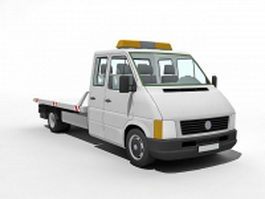 Flatbed tow truck 3d preview