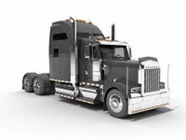 Black tractor unit 3d preview