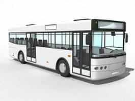 Urban bus 3d model preview