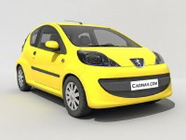 Peugeot 107 hatchback 3d preview