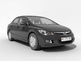 Honda sedan car 3d model preview