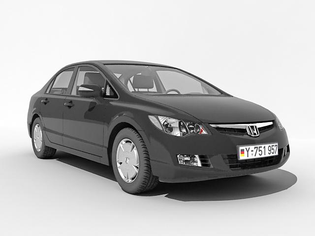 Honda sedan car 3d model 3ds Max files free download ...