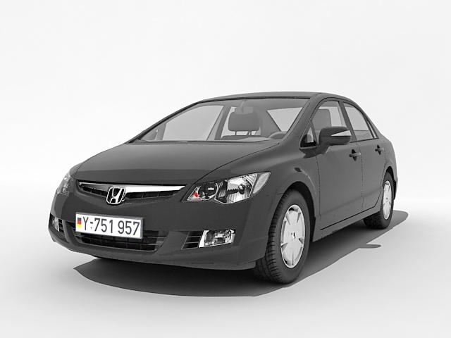 Honda sedan car 3d rendering
