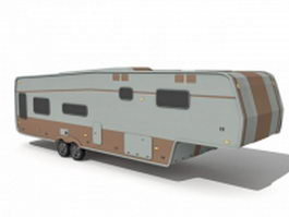 Travel camper trailer 3d preview
