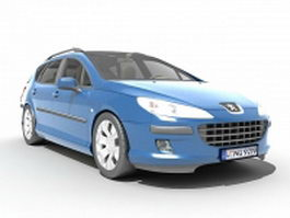 Peugeot 407 station wagon 3d model preview