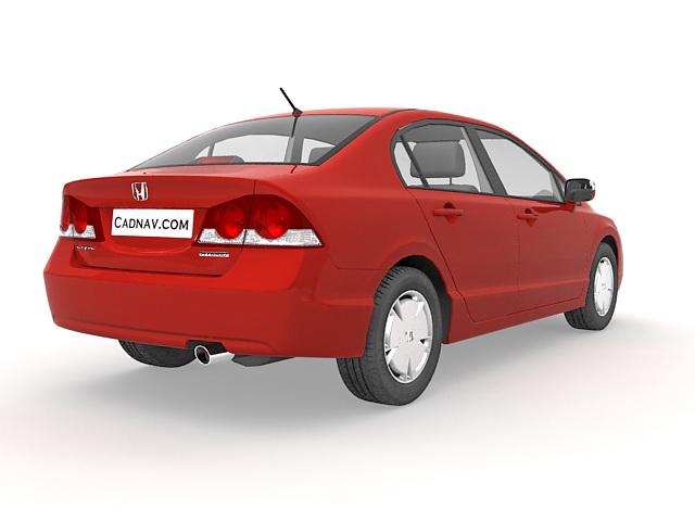 Honda Civic Sedan 3d rendering