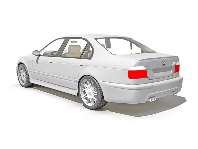 BMW 5 Series luxury car 3d rendering