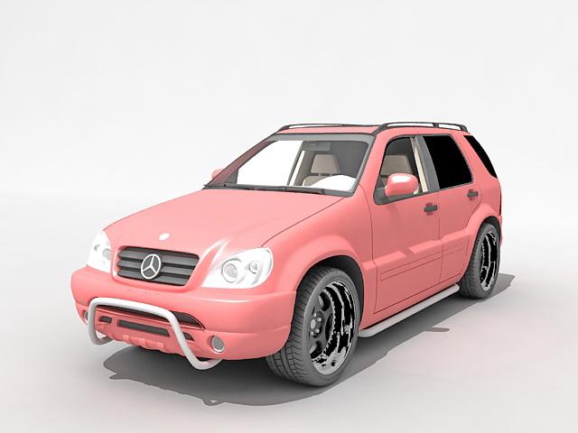 Mercedes-Benz M-Class 3d rendering