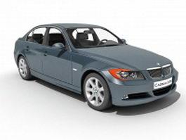 BMW 330 compact executive car 3d model preview