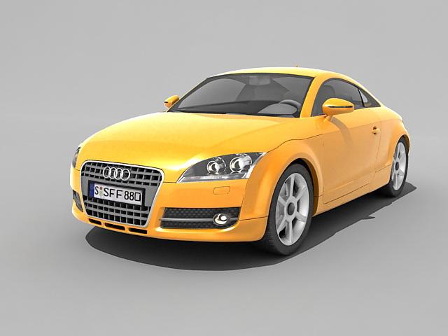 Audi TT Coupe 3d rendering