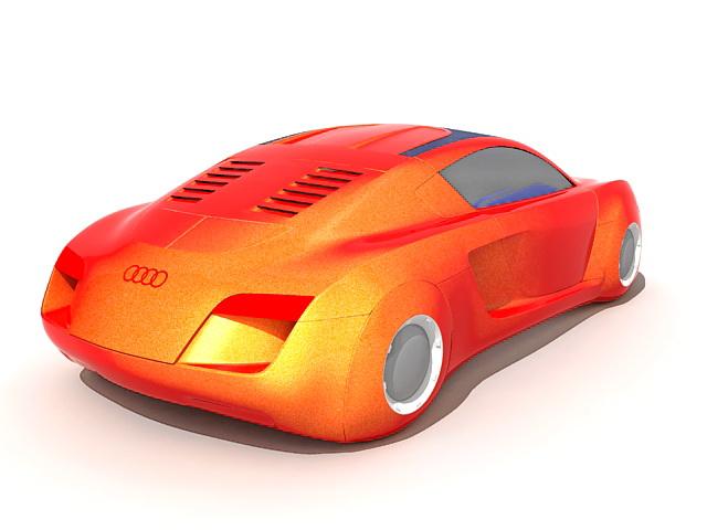 Audi concept car 3d rendering