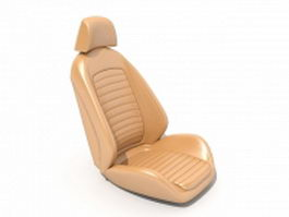 Brown leather car seat 3d preview