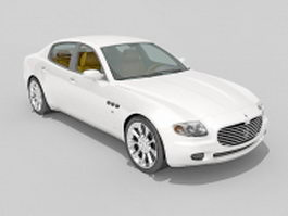 Maserati Ghibli executive car 3d preview