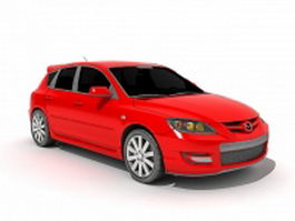 Mazda 3 compact car 3d preview