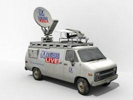 TV News van 3d model preview