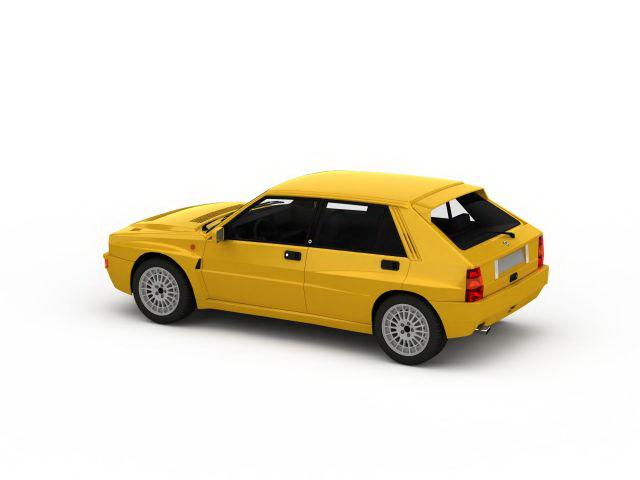 1982 Lancia Delta 3d rendering