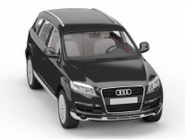 Audi Q7 SUV black 3d preview