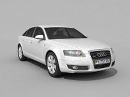 Audi A6 executive car 3d model preview