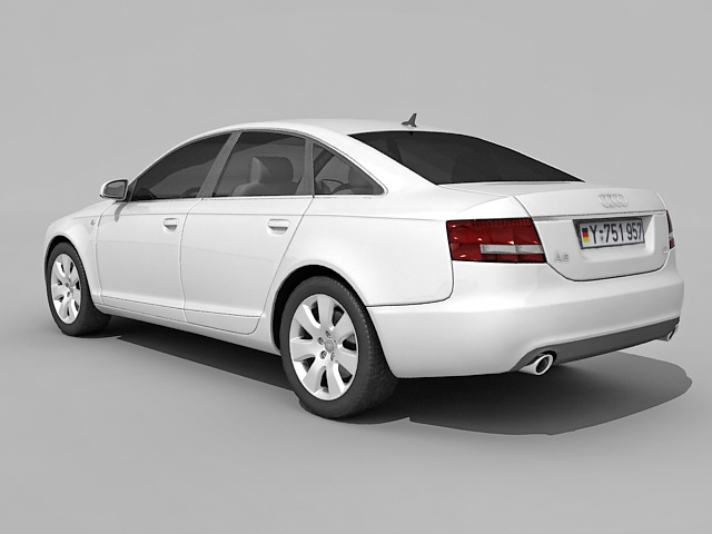 Audi A6 executive car 3d rendering