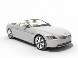 BMW M6 convertible 3d model preview