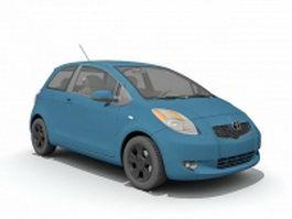 Toyota Yaris car 3d model preview