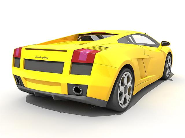 Lamborghini Gallardo sports car 3d rendering
