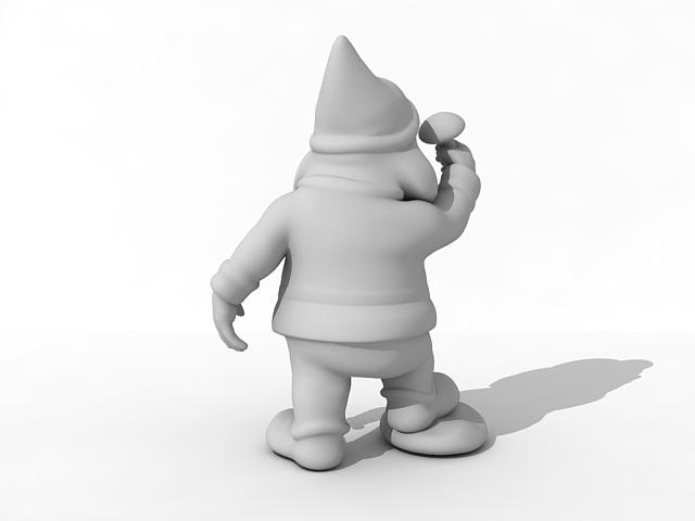 Santa garden gnome 3d rendering