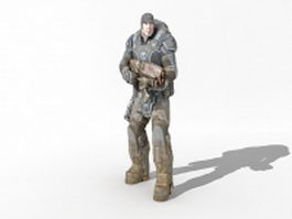 Army future soldier 3d model preview