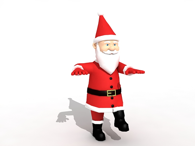 Biped Santa Claus 3d rendering