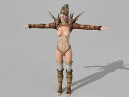 Female battle mage 3d preview