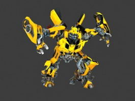 Transformers Bumblebee animated 3d preview