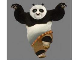 Kung Fu Panda 3d model preview