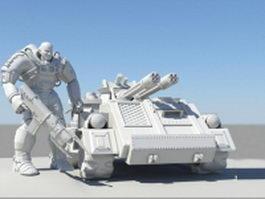 Future soldier concept art 3d preview