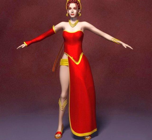 Fantasy princess 3d rendering