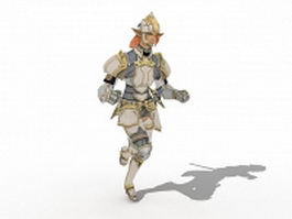 Medieval knight warrior 3d model preview