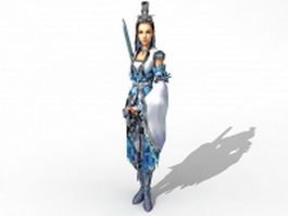 Female sword fighter 3d preview