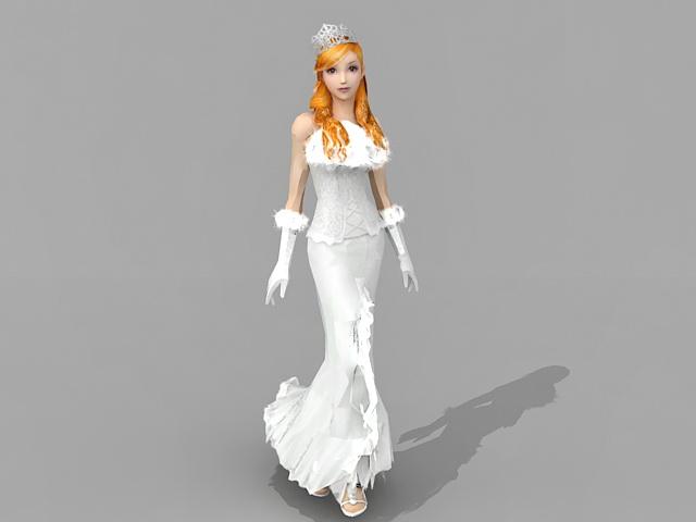 Blonde princess 3d model 3ds Max files free download - modeling 34022 on CadNav
