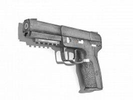 Fn-57 pistol 3d model preview