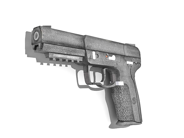 Fn-57 pistol 3d rendering