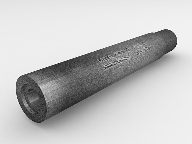 Firearm suppressor 3d rendering