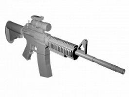 M4A1 carbine 3d model preview
