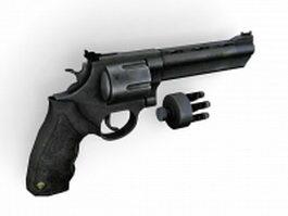 Taurus 44 Mag revolver 3d preview