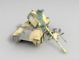 Panther tank wrecks 3d model preview