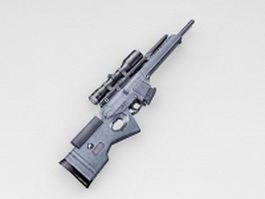 Heckler & Koch SL8 rifle 3d model preview